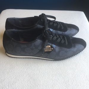 "Coach ""Ivy"" black sneakers size 6.5"